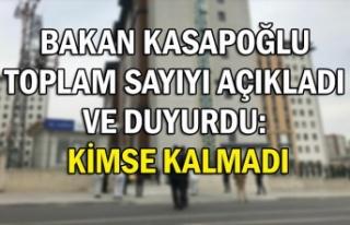 Bakan Kasapoğlu toplam sayıyı açıkladı ve duyurdu:...