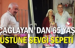 ÇAĞLAYAN'DAN 65 YAŞ ÜSTÜNE SEVGİ SEPETİ