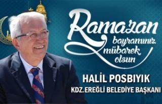 Ereğli Belediye Başkanı Halil Posbıyık bayram...