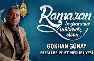 Ereğli Belediye Meclis Üyesi Gökhan Günay Bayram...