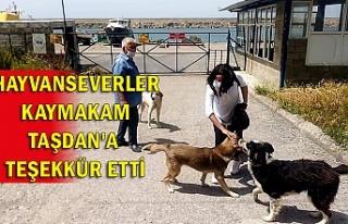 Hayvanseverler Kaymakam Taşdan'a teşekkür...
