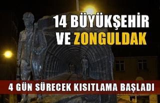 Zonguldak'ta 4 gün sürecek kısıtlama başladı