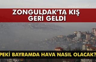 Zonguldak'ta kış geri döndü. Peki bayramda...