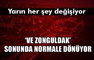 Zonguldak'ta normale dönüş başlıyor