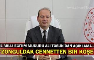 İl Milli Eğitim Müdürü Ali Tosun'dan açıklama…...