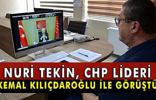 Nuri Tekin, CHP lideri Kemal Kılıçdaroğlu ile...