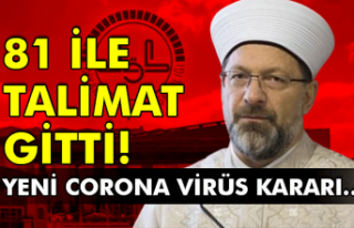 81 ile talimat gitti! Yeni corona virüs kararı...
