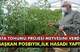 Ata tohumu projesi meyvesini verdi Başkan posbıyık,...
