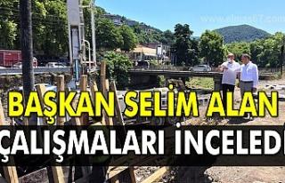 Başkan Selim Alan çalışmaları inceledi