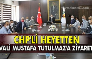 CHP'li heyetten Vali Tutulmaz'a ziyaret