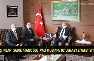 İş İnsanı Sadık Ayanoğlu Vali Mustafa Tutulmaz'ı...