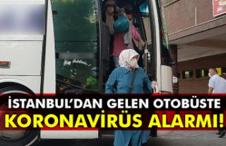 İstanbul'dan gelen otobüste koronavirüs alarmı!