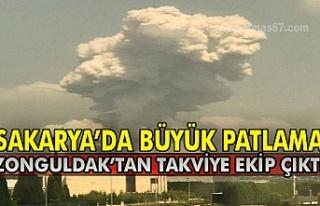 Sakarya'da büyük patlama: Zonguldak'tan takviye...
