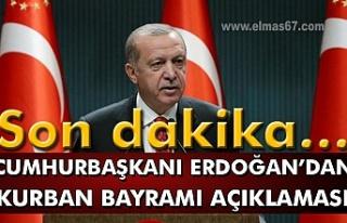 Son dakika… Cumhurbaşkanı Erdoğan'dan kurban...