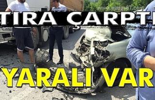 Otomobil Tıra çarptı !!! Yaralı var !!!