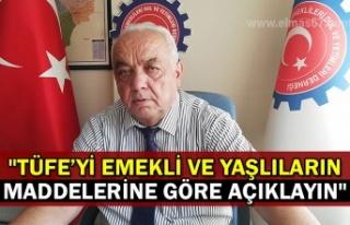 """""""TÜFE'yi emekli ve yaşlıların maddelerine..."""