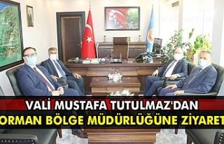 Vali Mustafa Tutulmaz'dan Orman Bölge müdürlüğüne...