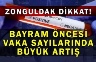 Zonguldak dikkat! Bayram öncesi vaka sayılarında...