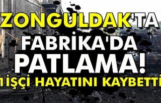 Zonguldak'ta fabrika'da patlama! 1 işçi...