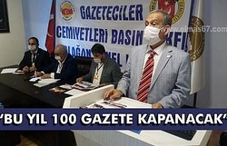 Bu yıl 100 gazete kapanacak.
