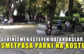 Serinlemek isteyen vatandaşlar İsmetpaşa Parkı'na...