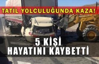 Tatil yolculuğunda kaza! 5 kişi hayatını kaybetti