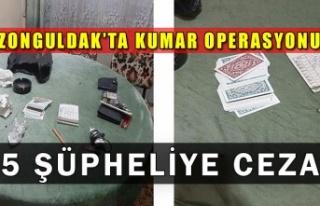 Zonguldak'ta kumar operasyonu: 5 şüpheliye ceza