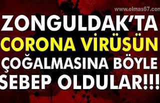 Zonguldak'ta Corona virüsün çoğalmasına böyle...