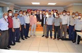 Çayırlı ve Kaptaş bölgesinden 20 muhtar Bozkurt'u...
