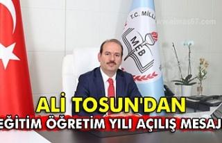 İL Milli Eğitim Müdürü Ali Tosun'un 2020-21...