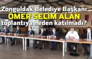 Zonguldak Belediye Başkanı Ömer Selim Alan toplantıya...