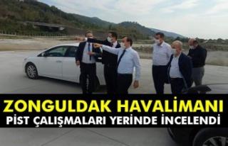 Zonguldak Havalimanı pist çalışmaları yerinde...
