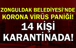 Zonguldak Belediyesi'nde korona virüs paniği!...