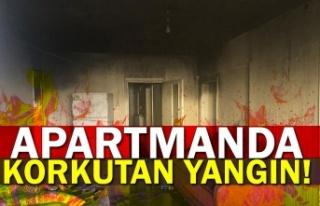 Apartmanda korkutan yangın