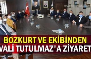 Bozkurt ve ekibinden Vali Tutulmaz'a ziyaret