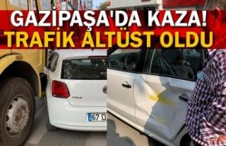 Gazipaşa'da kaza! Trafik altüst oldu