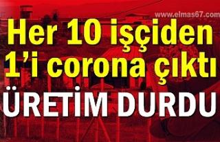 Her 10 işçiden 1'i corona çıktı: Üretim durdu