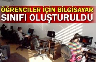 Öğrenciler için bilgisayar sınıfı oluşturuldu