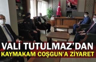 Vali Mustafa Tutulmaz'dan, Kaymakam Muharrem Coşgun'a...