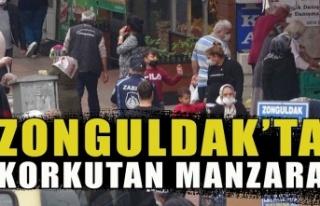 Zonguldak'ta korkunç manzara