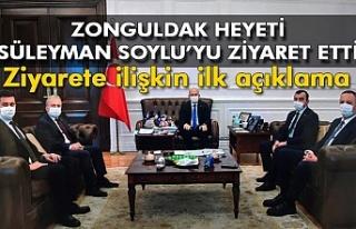 Zonguldak heyeti Süleyman Zorlu'yu ziyaret etti