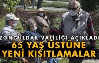 Zonguldak'ta 65 yaş üstüne yeni kısıtlamalar...
