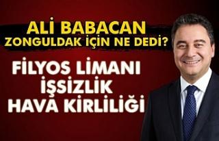 Ali Babacan Zonguldak için ne dedi?