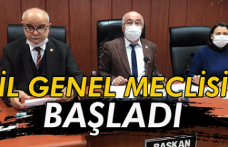 İl Genel Meclisi başladı