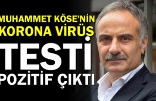 Muhammet Köse'nin koronavirüs testi pozitif...