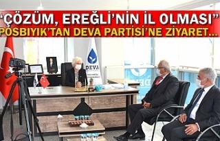 """Posbıyık'tan DEVA Partisi'ne ziyaret… """"Çözüm,..."""