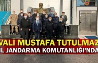 Vali Mustafa Tutulmaz il jandarma komutanlığı'nda