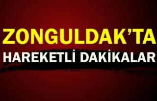 Zonguldak'ta hareketli anlar