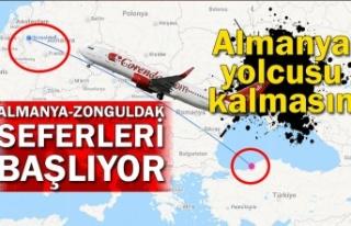 Zonguldak'tan Almanya'ya uçacak