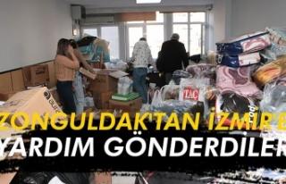 Zonguldak'tan İzmir'e yardım gönderdiler